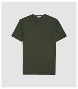 Reiss Melrose - Pigment Dyed T-shirt in Army Green, Mens, Size XXL