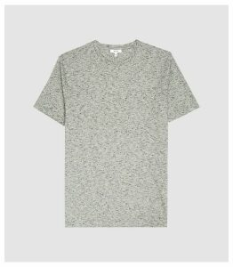 Reiss Norton - Melange Crew Neck T-shirt in Grey, Mens, Size XXL