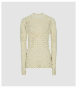 Reiss Roni - Open-knit Jumper in Neutral, Womens, Size XL