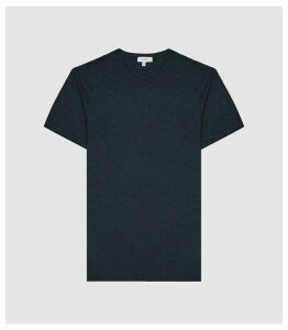 Reiss Williams - Cotton-blend Crew Neck T-shirt in Indigo, Mens, Size XXL