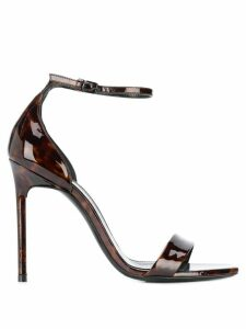 Saint Laurent tortoiseshell effect sandals - Brown