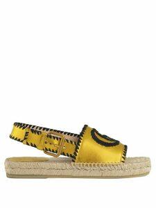 Gucci logo espadrilles - Yellow