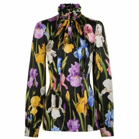 Dolce and Gabbana Iris Tie Floral Blouse