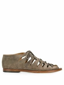 Alberto Fasciani lace-up suede gladiator sandals - Grey