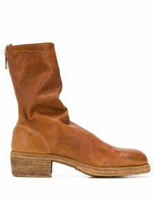 Guidi crinkled desert boots - Brown
