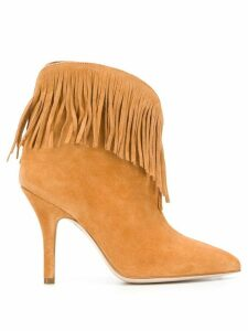 Paris Texas fringed pointed boots - Brown