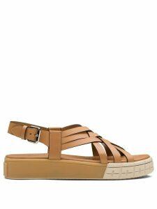 Prada strappy 30 flatform sandals - Brown