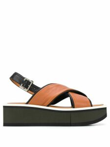 Clergerie Unie 55mm crossover strap sandals - Brown