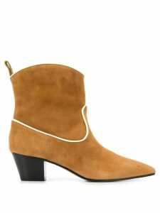 L'Autre Chose pointed ankle boots - Brown