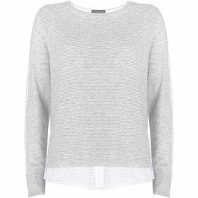 Mint Velvet Grey Ottoman Layered Knit