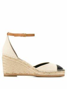 Tory Burch colour-block wedge sandals - NEUTRALS