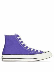 Converse Purple Chuck 70 Vintage canvas high top sneakers