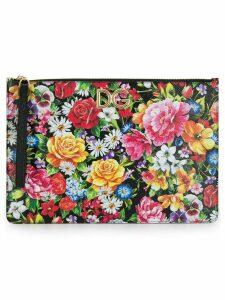 Dolce & Gabbana floral print clutch - Black