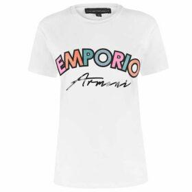 Emporio Armani Multi Coloured Logo T Shirt