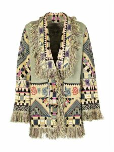 Etro Jacquard Cardigan With Fringe