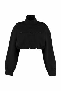 Alexander Wang Cropped Sweatshirt With Logo