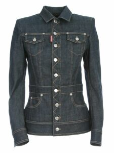 Dsquared2 Jean Jacket Rodeo Shoulder Dark Wash