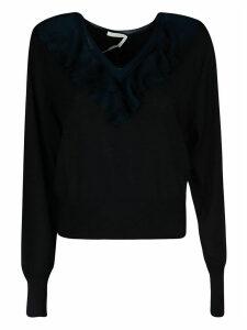 Chloé Ruffle Detail Rib Sweater