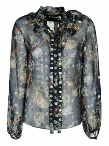Chloé Floral Printed Lace Shirt