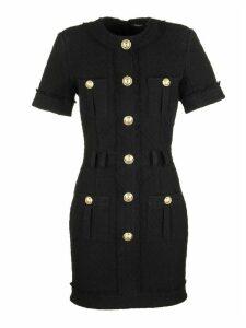 Balmain Short Sleeve Dress With Buttons.
