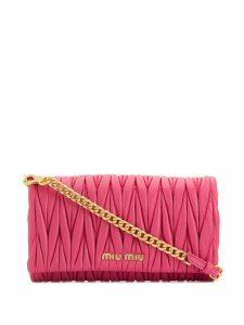 Miu Miu textured shoulder bag - PINK