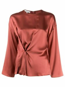Vince Gathered Silk Blouse