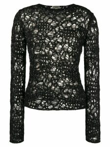 Saint Laurent Sequinned Crochet Jumper