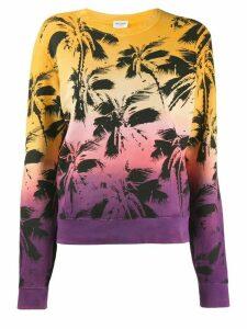 Saint Laurent Palm Print Sweatshirt