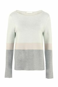 Fabiana Filippi Striped Cotton Blend Sweater