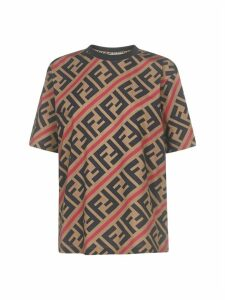 Fendi Diagonal All Over Ff Short Sleeve T-shirt