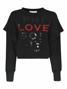 Philosophy di Lorenzo Serafini Crop Ruffled Sweatshirt