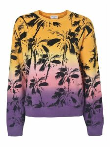 Saint Laurent Palm Tree Printed Sweater
