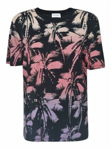 Saint Laurent All-over Palm Tree Printed T-shirt