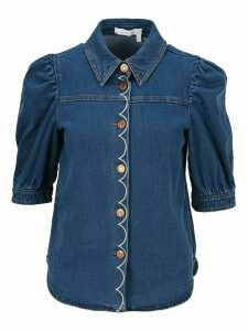 See By Chloe Half-sleeve Denim Shirt