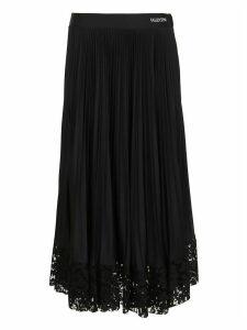 Valentino Jersey Skirt Lace