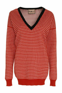 Plan C Checked Cotton Pullover