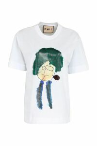 Plan C Printed Cotton T-shirt