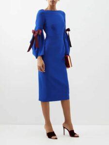 Rochas - Tulip-print Silk Gown - Womens - Black
