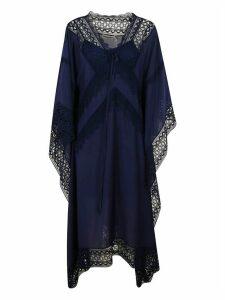 self-portrait Indigo Sheer Kaftan Dress