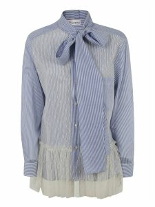 RED Valentino Striped Scarfed Shirt