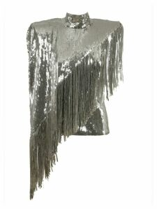 Balmain Sequined Fringed Top