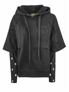 N.21 Black Cotton Hoodie