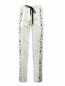 N.21 White Jersey Joggers