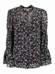 MICHAEL Michael Kors Floral Print Long-sleeved Blouse