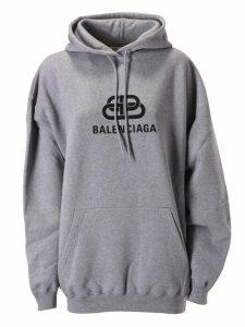 Balenciaga Centre Logo Print Hoodie