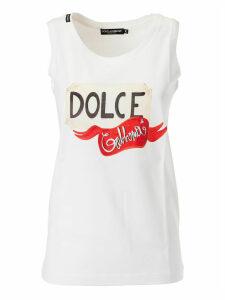 Dolce & Gabbana Logo Printed Tank Top