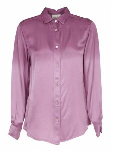 Forte Forte Deep Dyed Pink Viscose Satin Shirt