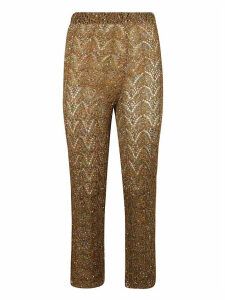 Patterned Knit Cropped Trousers