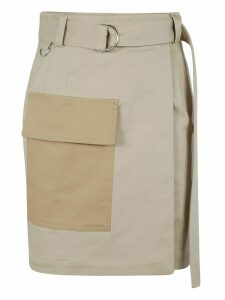 Front Flap Pocket Mini Skirt