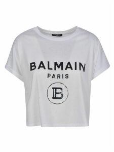 Balmain Cropped Logo T-shirt
